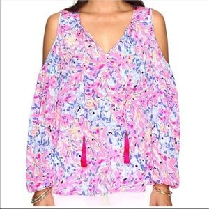 Lilly Pulitzer cold shoulder top